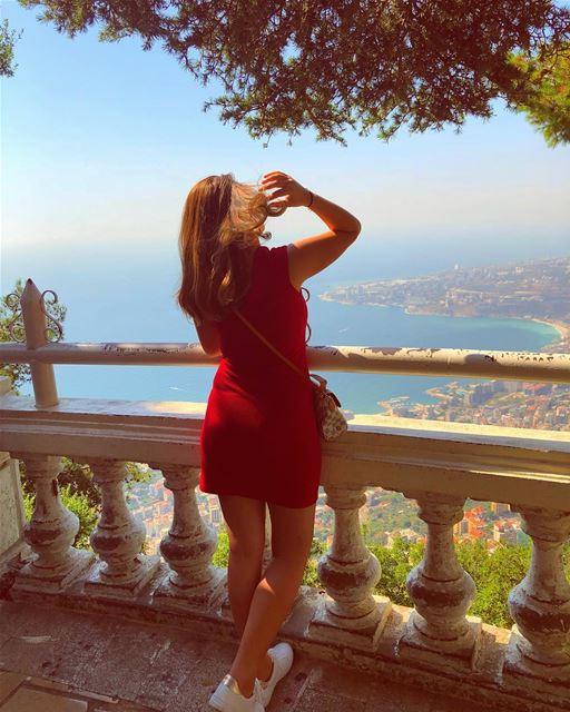Give Life A Meaning 💚💙❤️ meetlebanon peoplewhoadventure livelovelife ... (Harîssa, Mont-Liban, Lebanon)