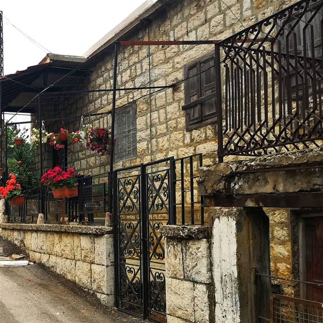 nostalgia  oldhouse  lebanonhouse  traditionalarchitecture  flowers ... (Lebanon)