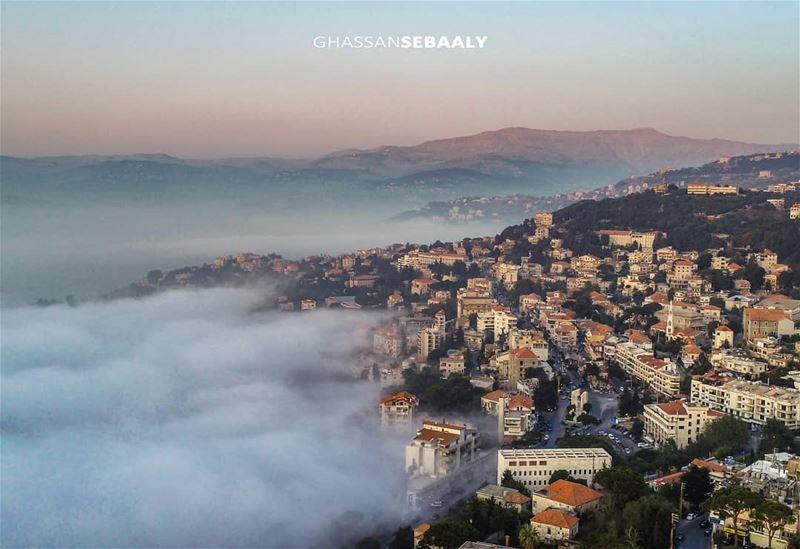 """▪Bikfaya a.k.a """"Mist Town""""▪Shot with djiphantom4pro @djiglobal▪1/9/2018... (Bikfayya, Mont-Liban, Lebanon)"""