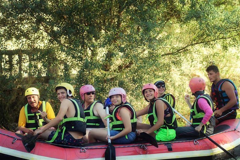Happy sunday! fun raftingtrip assiriver assi_river hermel ... (El Hermel, Béqaa, Lebanon)