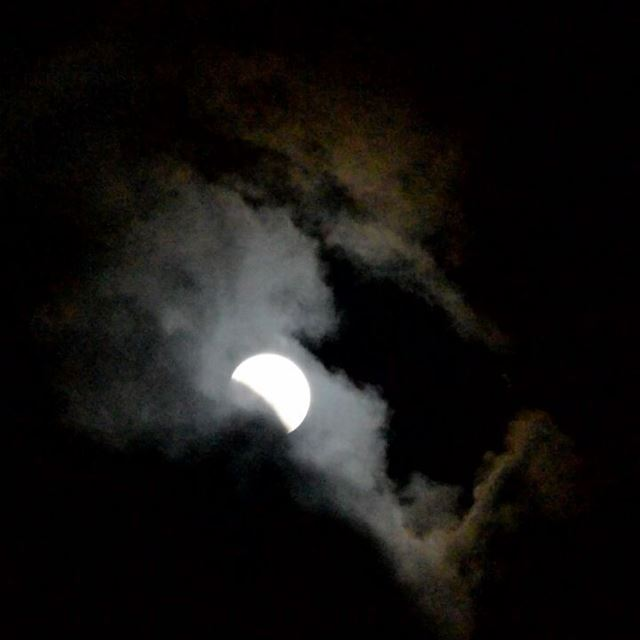 رجع أيلول ... september autumn moon lunareclipse clouds lebanon ...