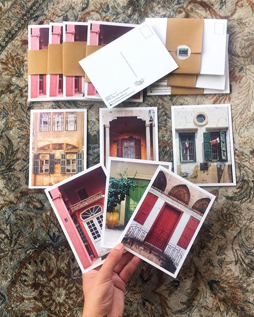 شبابيك وبواب بيروتية | Beiruti windows & doors 🚪a pack of 6 cards ✨... (Beirut, Lebanon)