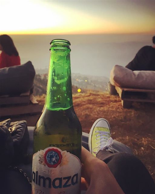 Having a Beer with a view 🍺You can choose the light beer as a drink , it...