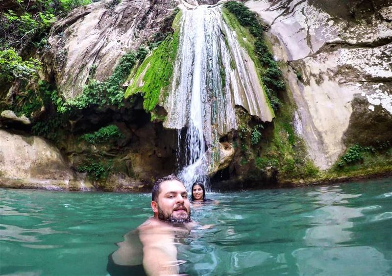 Me and You we Discover the World 😍 Waterfall NaturalPool ColdWater ... (Yahchouch)