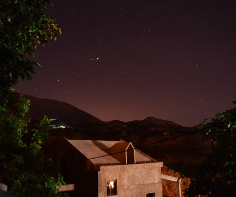 take me home 💜 nightphotography  bekaakafra  myvillage  Lebanon  liban ... (Bekaa Kafra)