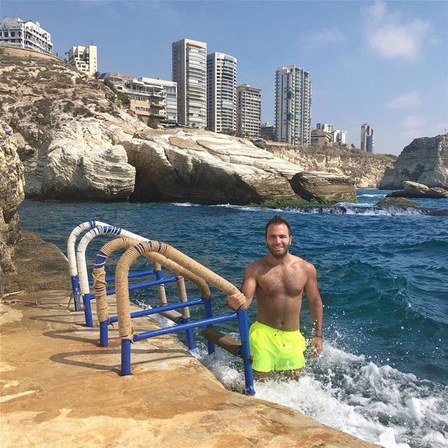 Life's a Beach! 🌊 beirut lebanon home lebanese monday mondaze ... (Sporting Club Beach)