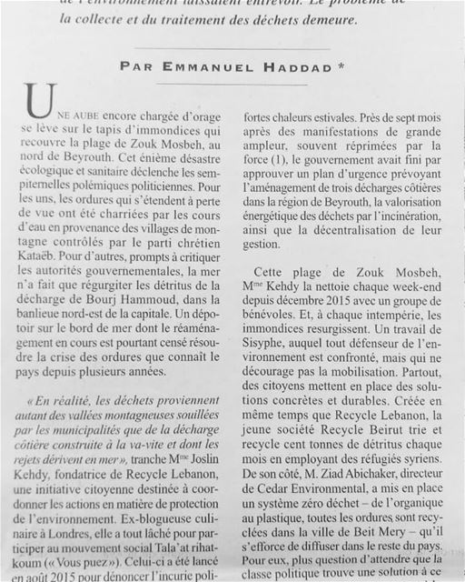 Au Liban, le spectre des barils toxiques! I've been speaking in Napoli,... (Municipality of Beirut)