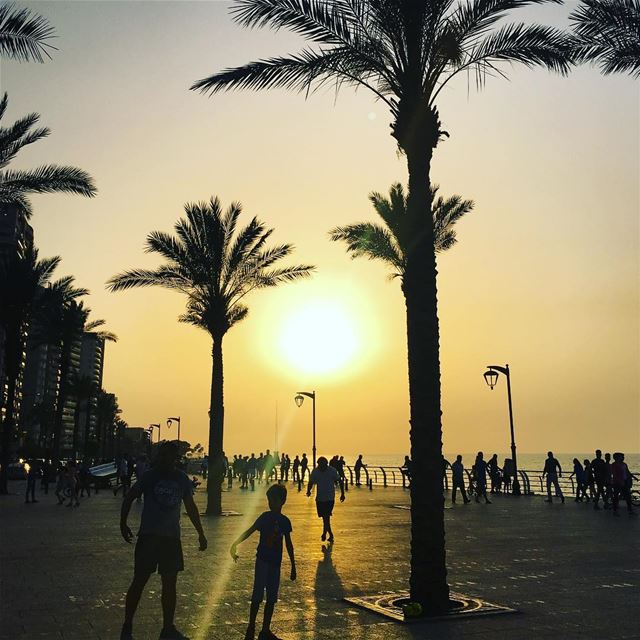 Summer Is Almost Over. beirut lebanon weekend sunset livelovelebanon... (Beirut, Lebanon)