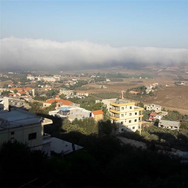 Morning ❤ village fog view morning lebanon ...