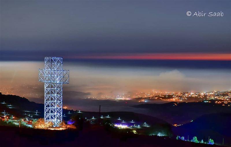 High Up On The Bekish Mountain Stood A Giant Cross! .. lebanon ... (Salib Bekish)