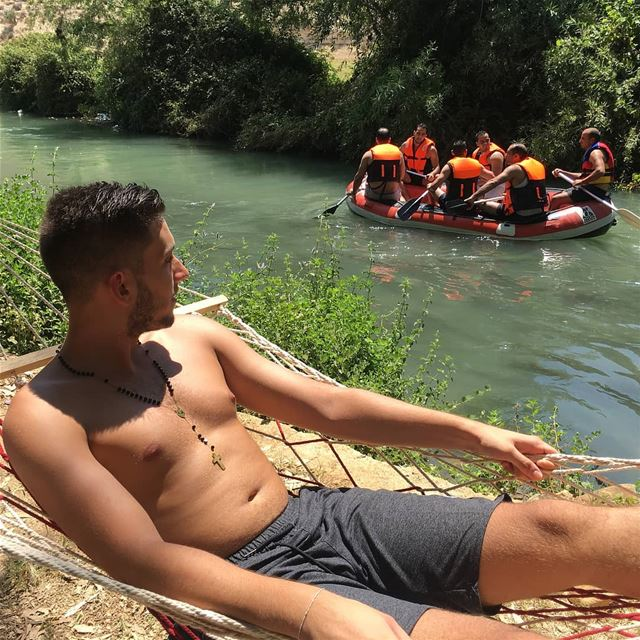 It's time to relax by @micho_harb fun raftingtrip assiriver assi_river... (El Hermel, Béqaa, Lebanon)