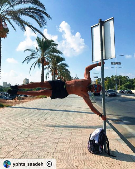 """Bored from gravity! 💪🇱🇧❤️ flaggingarroundlebanon➡️Tyre. ............ (Tyre, Lebanon)"