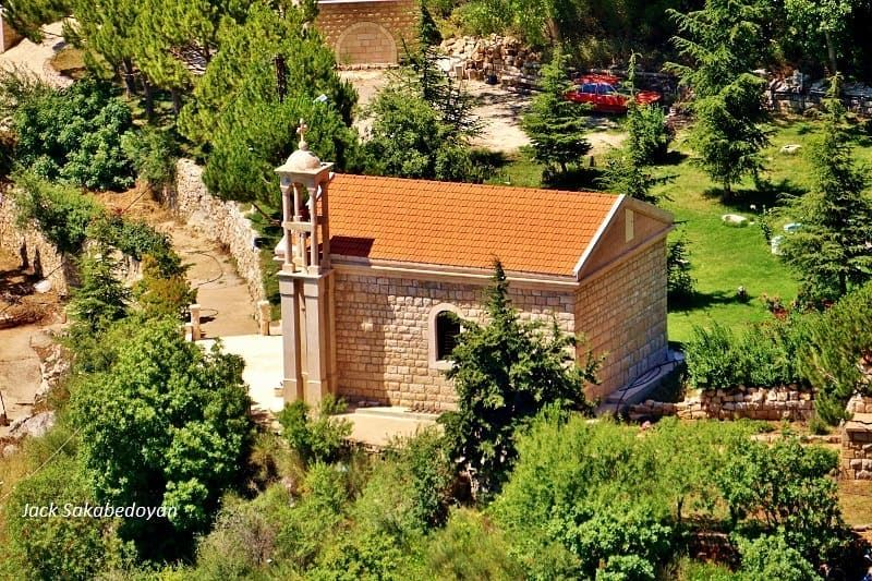 From Akoura church akoura jbeildistrict mountlebanon trees ...