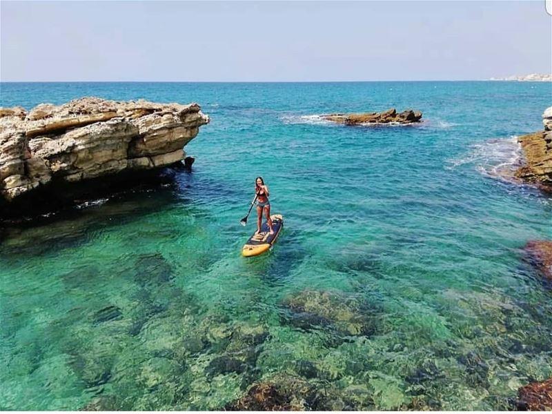 batroun البترون_سفرة kfarabida paddleboard paddling batrounbeach ... (Kfar Abida)