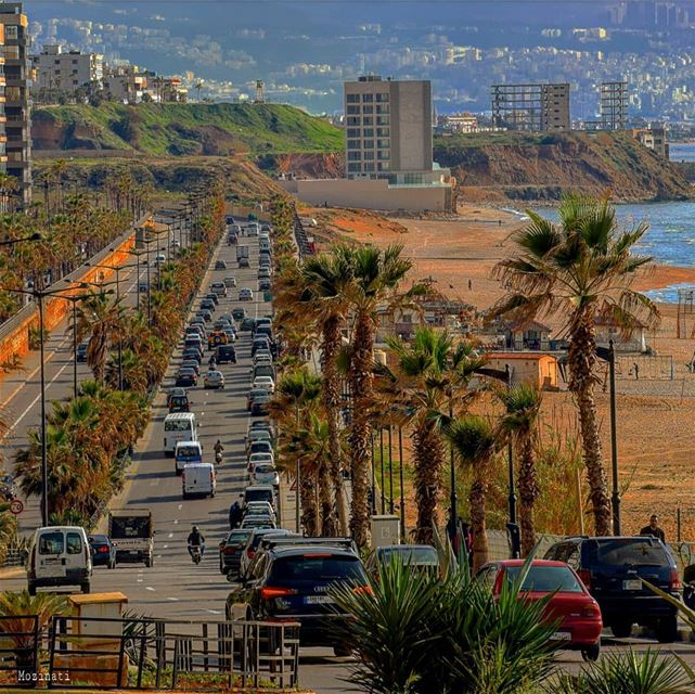 The traffic is so slow today that I read two books, ate lunch, dinner,... (Beirut, Lebanon)