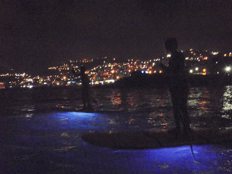 Paddling through the dark waves lebanon @surfshacklebanon