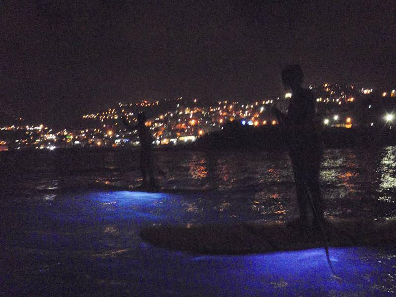 Paddling through the dark waves lebanon @surfshacklebanon