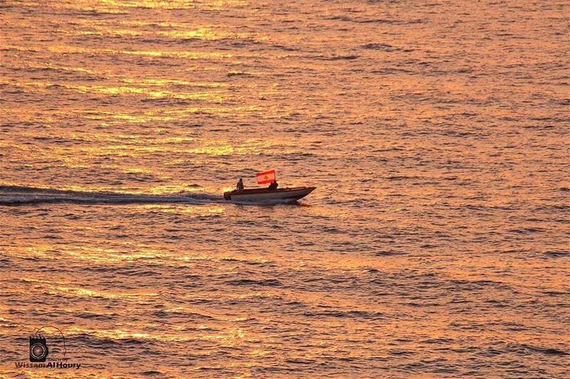 sailing sail mediteriansea sea lebaneseflag lebanon... (Beirut, Lebanon)
