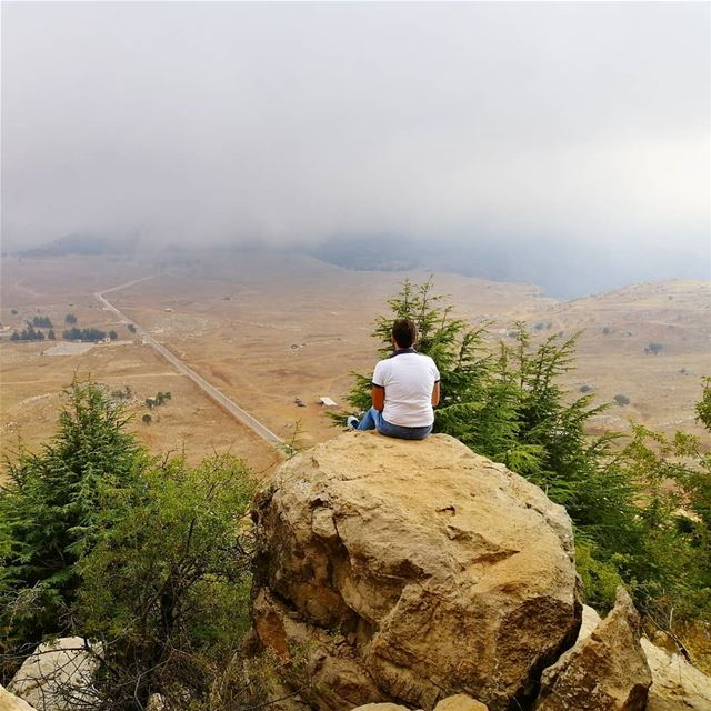 throwbackI enjoyed the view in fog weather 😌💚Have a happy weekend... (Falougha, Mont-Liban, Lebanon)