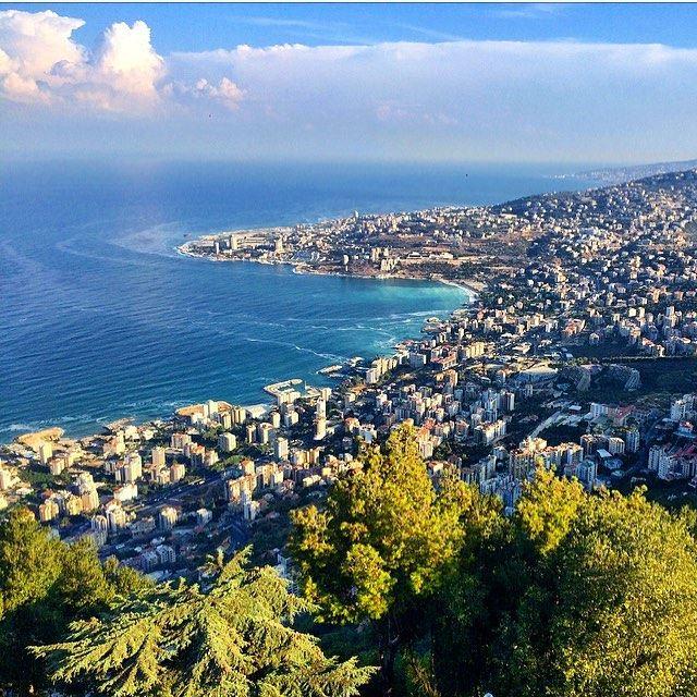 Comme une toile🖼💙💙💚 view jounieh bay instalebanon whatsuplebanon ... (Lebanon)
