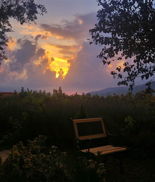 😍 beautiful  sunset  amazing  nature  naturelovers  sun  dark  garden ... (Bmariam, Mont-Liban, Lebanon)