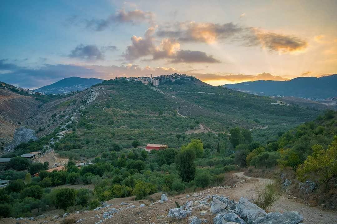 Good morning from Houmine Al Fawka morning sun sunrise village town ...