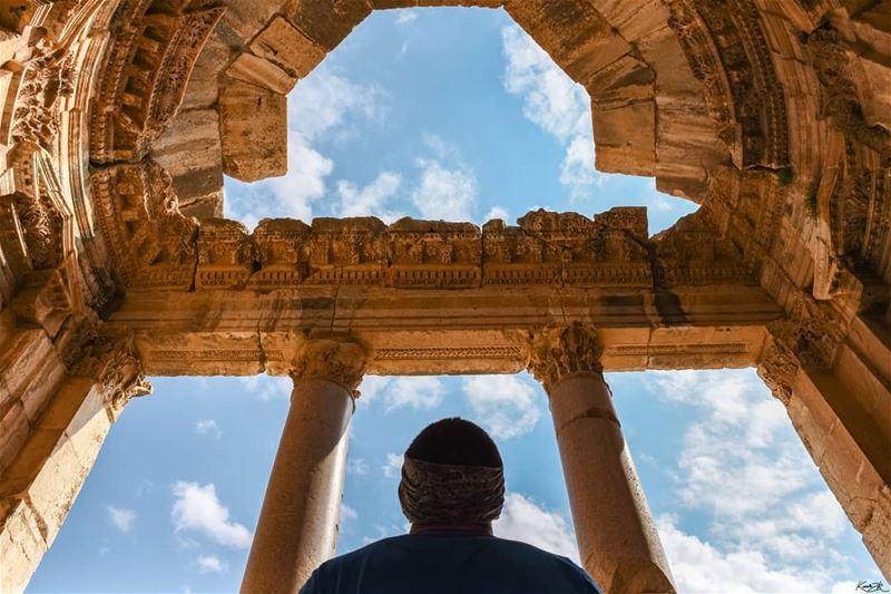 Standing in... (Baalbek Ruins)