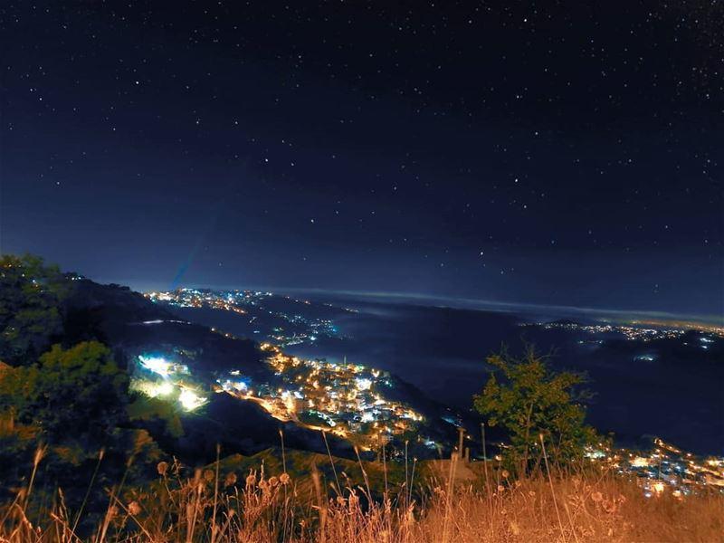 La noche más hermosa! 🌌 GOODNIGHT nightsky nightshot ... (Sawfar, Mont-Liban, Lebanon)