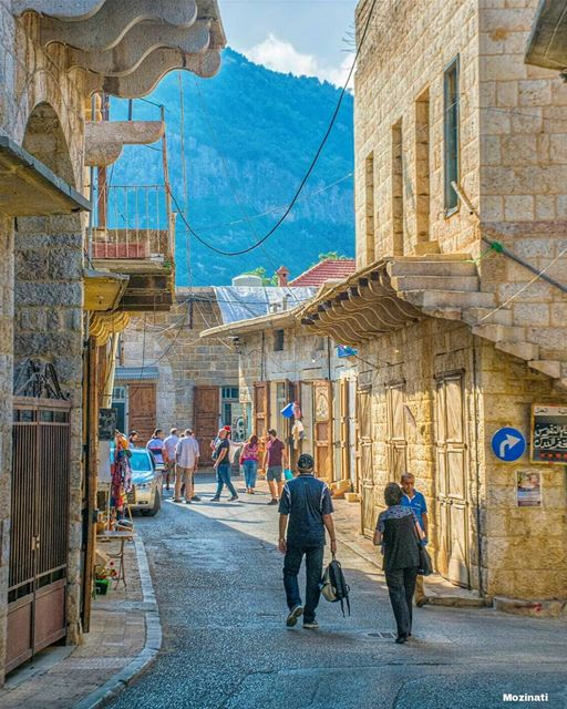 We wander through old sreets, and pause before the age stricken houses,... (Douma, Liban-Nord, Lebanon)