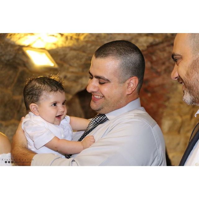 Joseph & his godparents 👼🏻🙏🏻Book your BaptismPhotography now on 📱+9 (Restaurant al-jabal)