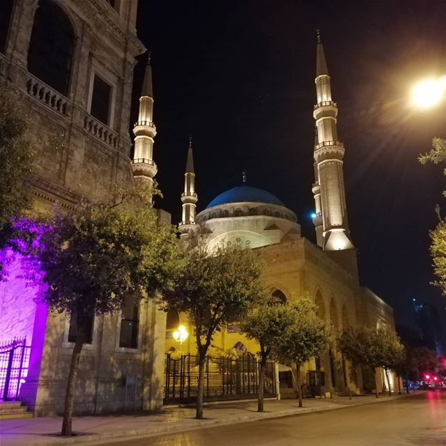 🕌... beirut  lebanon  mosque  architecture  nightphotography ... (Downtown Beirut)