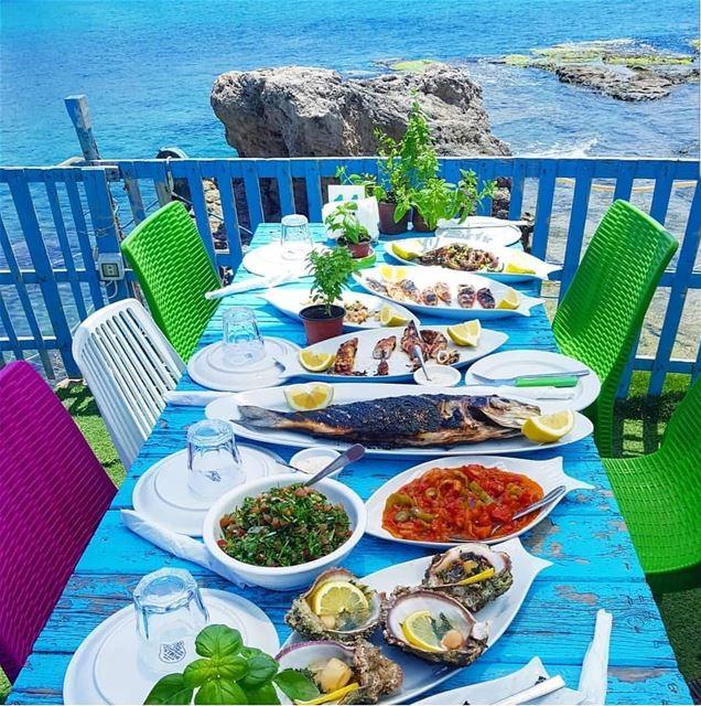 batroun restaurants البترون_سفرة lebanesecuisine lebanesefood ... (Chez Maguy Batroun)