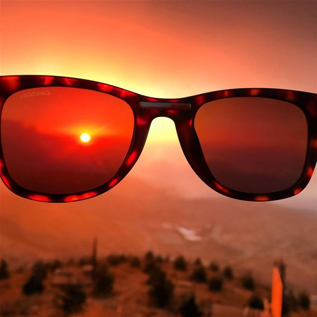 Sunset @1900meters  sunglasses  sunset  frozencherry  Lebanon  zaarour ... (Frozen Cherry)