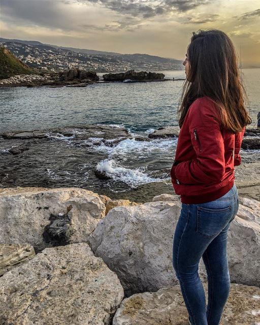 wheretheseameetsthesky sea sky clouds lovely livelovelebanon ... (Byblos, Lebanon)