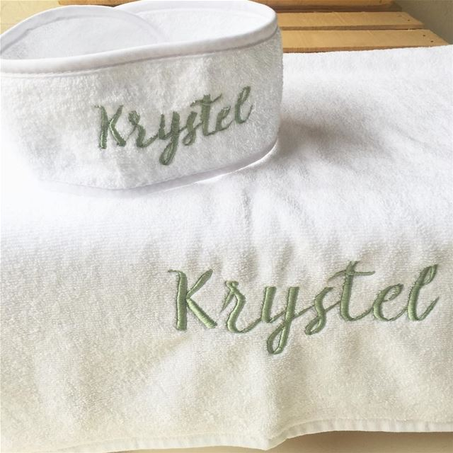 Relax & chill 🛁 Order now your towel set & headband! Write it on fabric...
