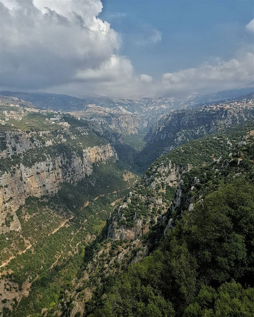 Wilderness 💚.. valley  holyvalley  qannoubine  skyporn  jesus  clouds ... (Diman, Liban-Nord, Lebanon)