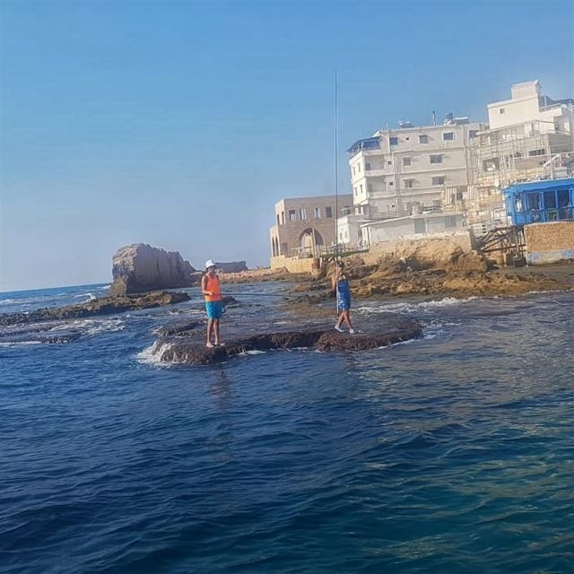 batroun البترون_سفرة fishing phoenician wall batrounbeach ... (Batroûn)