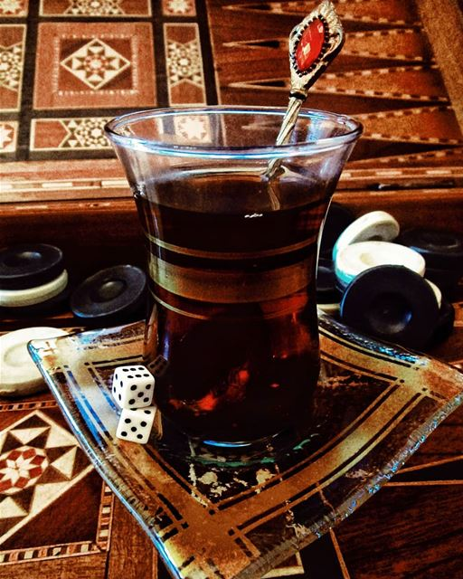 Tea Time ☕ picoftheday  evening  night  friends  vibes  instalike ... (Hamra - حمراء)