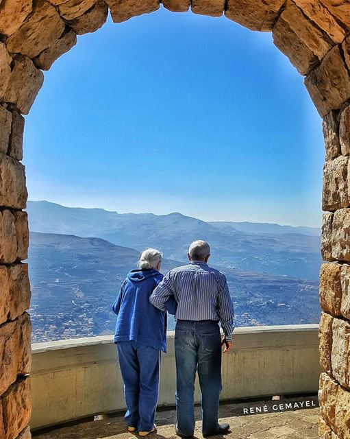 Love is......supporting each othe in old age... livelovelebanon ... (Ehden, Lebanon)