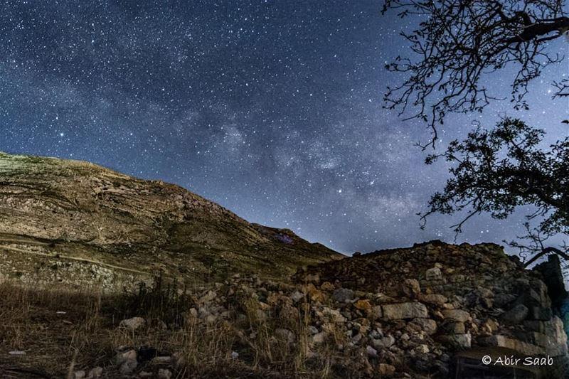 lebanon tbt throwback milkyway sky landscapephotography ... (Sannin, Mont-Liban, Lebanon)