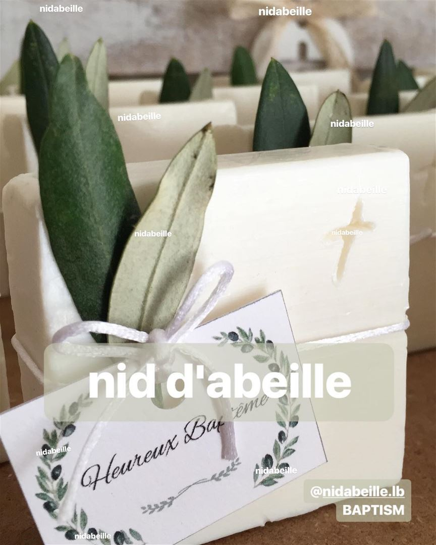 Blessed sunday 🌿making memories with our giveaways! Soap by nid d'abeille...