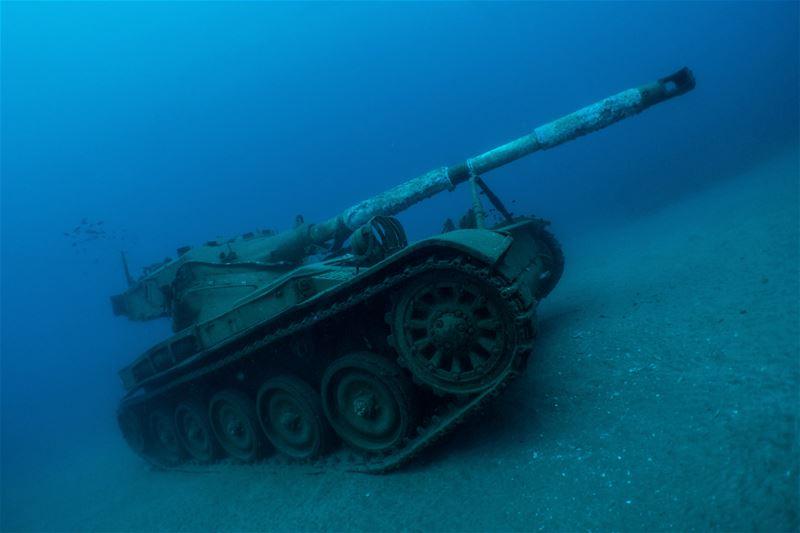 The Military Garden... shots taken in saida lebanon diving underwater ...