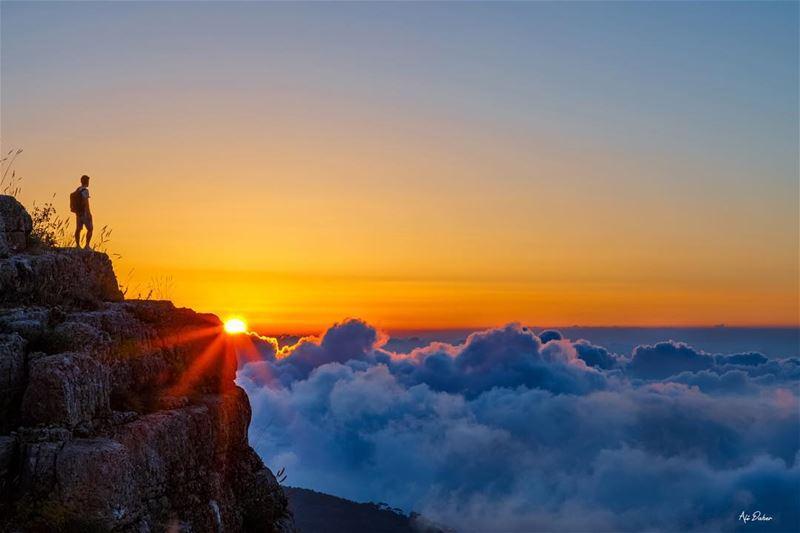 Above the world! 🌅..... sunset sunsetpics landscape... (Lebanon)