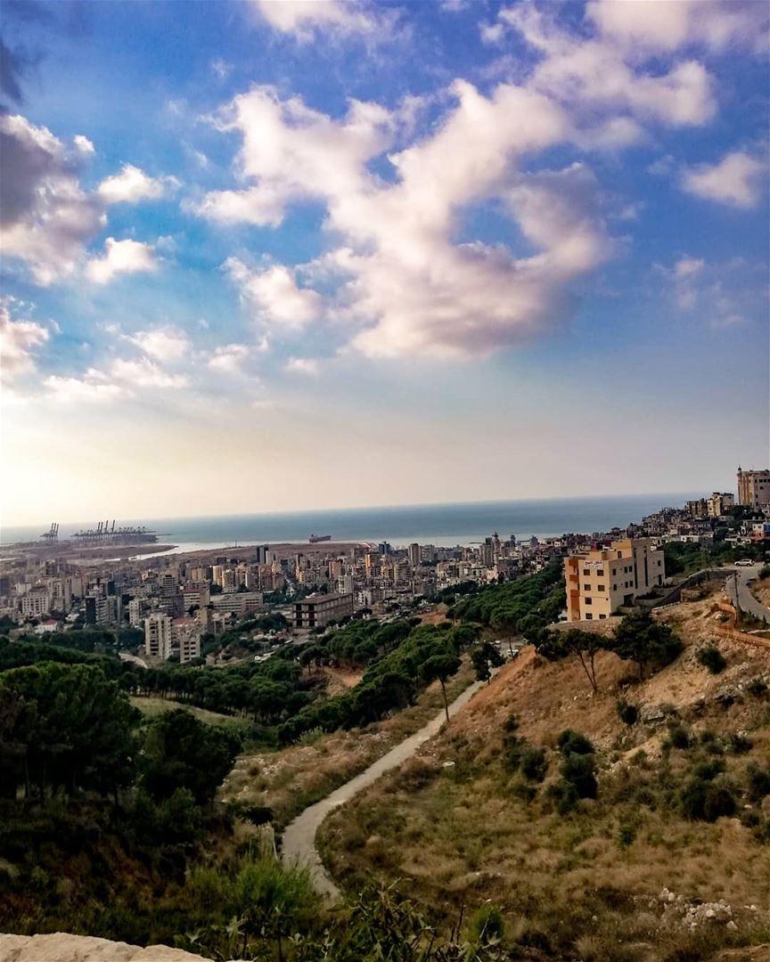 today lebanon beautiful view sea green picoftheday pictures ... (Fanar, Mont-Liban, Lebanon)