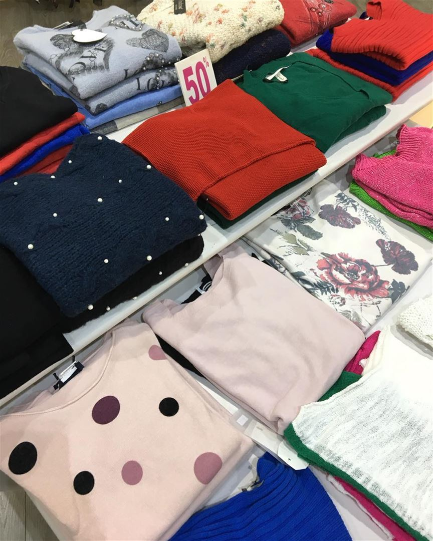Here is what's left from our sweaters collections now 50% sale!!... (El Mtaïleb, Mont-Liban, Lebanon)