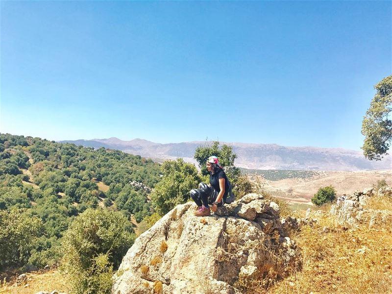 We all have our mountains to climb 💚••••••••••••••••••• (Kfarmechkî, Béqaa, Lebanon)