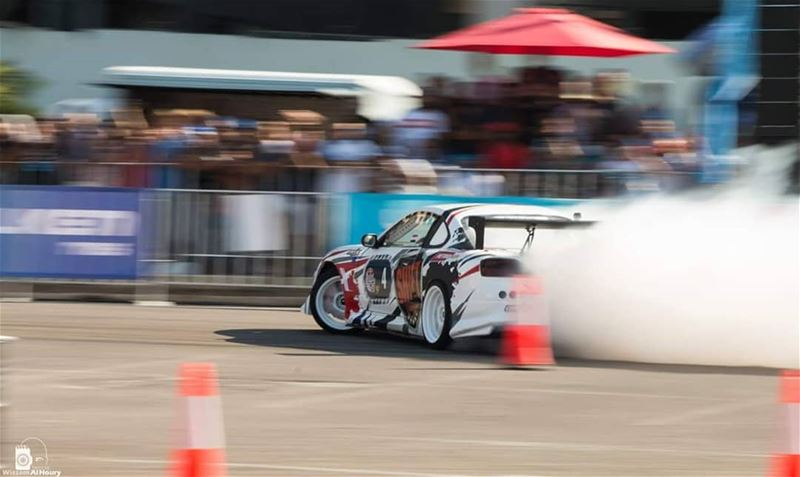 drift drifting smoke burningtires toyota competition redbullcarparkdrift... (Beirut, Lebanon)