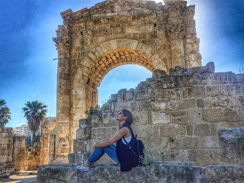 When in Tyre! 🍀......... lebanon southlebanon tyre tyreruins... (Tyre, Lebanon)