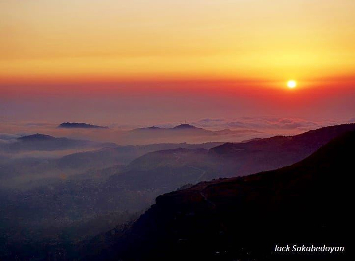 Sunset from Faraya sunsetphotographs sunsetlovers sunsetphotography ...