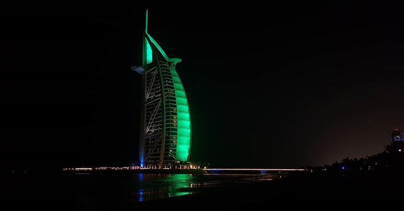 📍Burj Al Arab - UAE... mydubai dubai burjalarab @burjalarab night ... (Burj Al Arab)